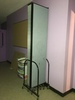 """Screen Flex Folding Room Divider On Wheels 16' x 96"""",  Main Hall by Cafeteria"""