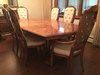 Stanley Furniture double Pedestal Dining Room Table W(6) Chairs & (2) Leaves