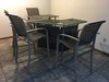 Iron & Mesh Bar W/4 Swivel Barstools & Bartenders Chair