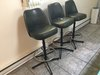 "(3) 70's Era Swivel Bar Stools Are 41"" tall."