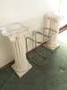 (2) Plaster Pedestals & (2) Small Stands