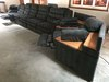 5-Piece Sectional Couch W/Hide-A-Bed & Recliners