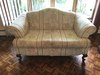 2-Cushion Loveseat On Wooden Legs
