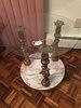 Marble & Glass Tables W/Figural Cherubs