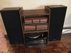 Panasonic Model SB-2R30 Speakers W/SL-H307 turntable Remote, & Cabinet
