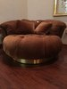 Vintage 70's Tufted Round Chair