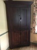 Antique 4-Door Corner Cupboard