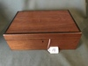 Antique Walnut Writing Box W/2 Inkwells