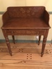 Antique Stenciled English Country Washstand W/Splash Back & Sides