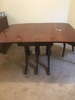 Duncan Phyfe Mahogany Drop Leaf Table W/(2) Leaves & (4) Chairs