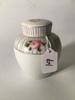 "Hand Painted Nippon Lidded Jar Is 4.5"" Tall"