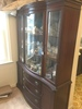 Duncan Phyfe Curved Glass China Cabinet