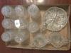 Vintage Glassware: 8-Glasses, Nappy, & Cream/Sugar
