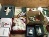 Box of Vintage Christmas Ornaments and More