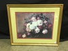 "Framed & Matted Still Life Print Of Roses Is 27"" x 33"""