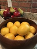 Bowl Of Fruit In Metal Bowl & Lemons In Wooden Bowl