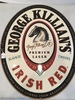 George Killians Irish Red Embossed Oval Tin Sign