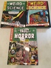 "(3) Hardback ""Weird Science"" & ""Vault Of Horror"" Books"