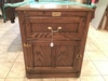 Contemporary Oak 1-Door/1/Drawer Cabinet