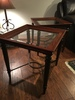(2) Matching Lamp Tables W/Wooden Trim