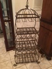 Iron Wine Rack Hold 22 Wine Bottles + Glasses