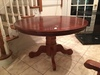 Wooden Pedestal Style Round Table