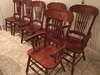 Set Of (6) Kitchen Table Chairs W/Pressbacks