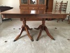 Amazing Solid Walnut Duncan Phyffe Style Dining Room Table W/(3) Leaves