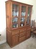 Beautiful Custom-Made Solid Walnut 3-Door China Cabinet W/Paneled Doors & Sides