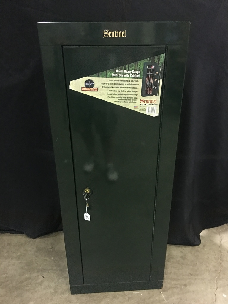 Sentinel 8 Gun Heavy Fuage Steel Security Cabinet Estate Personal Property Personal Property Online Auctions Proxibid