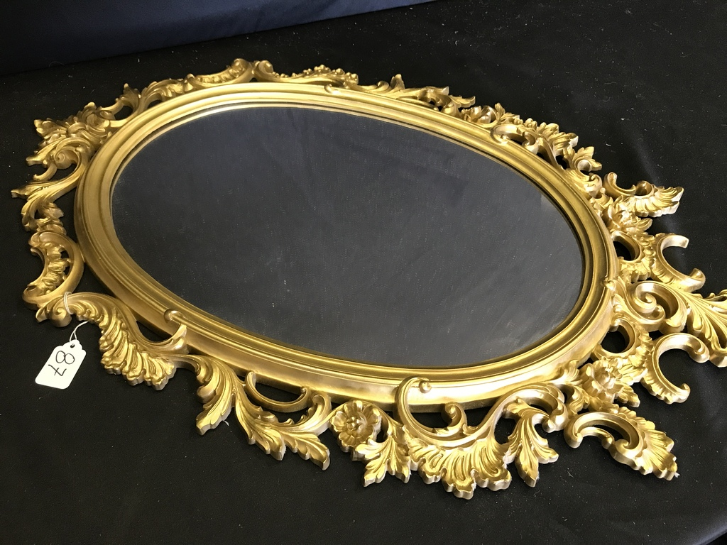 Oval Ornate Wall Mirror Measur Auctions Online Proxibid