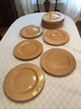 "(12) Pier 1 Imports Large Plates ""Toscana Gold"" Pattern"