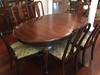 Tell City Solid Cherry Dining Room Table, (3) Leaves, & (6) Matching Chairs