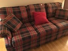 3-Cushion Plaid Couch-Matches Chair In Next Lot