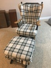 Upholstered Base Rocker W/Ottoman-Made In North Carolina