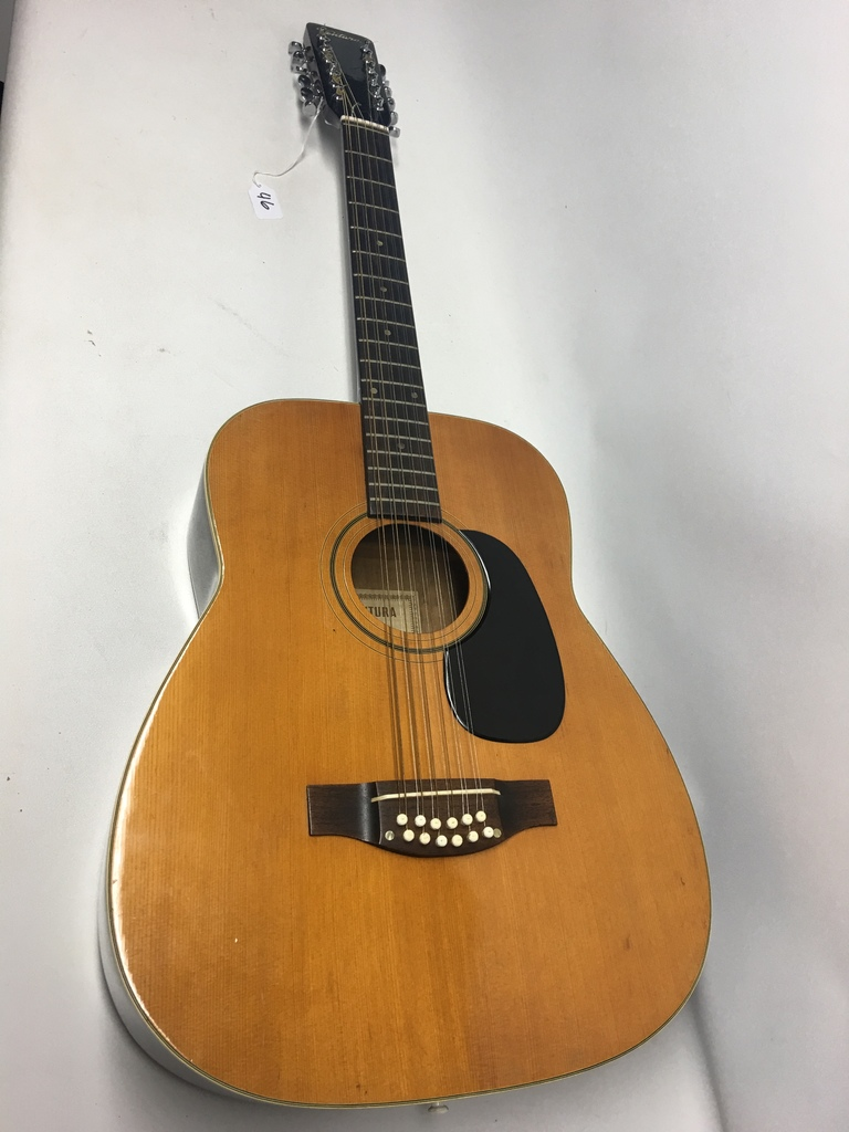 Lot Ventura Bruno 12 String Guitar With Nice Case Proxibid Auctions