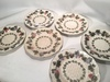 "(6) 8.75"" Wedgewood Plates W/Vine & Grapes Design"