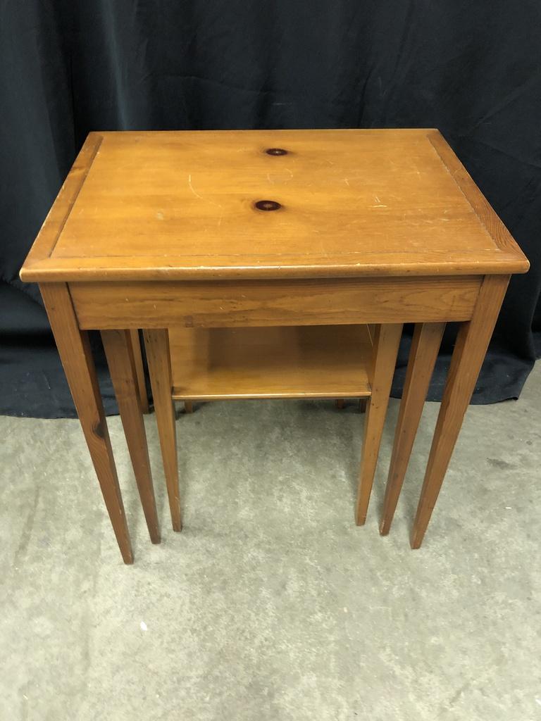 ... Maryland Vintage Pine Nesting Tables By Brandt Furniture, Maryland