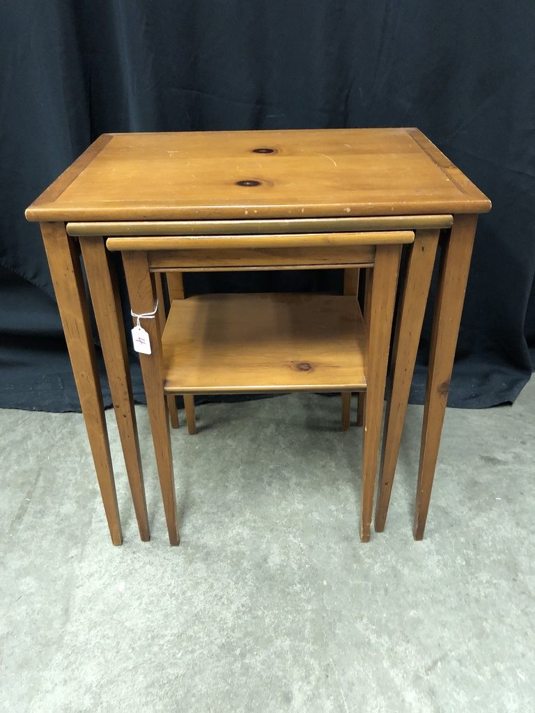 Bon Vintage Pine Nesting Tables By Brandt Furniture, Maryland ...
