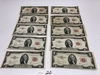 7-1953B, Red Seal, $2.00 Silver Certificates