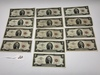 13-1963, Red Seal, $2.00 Silver Certificates