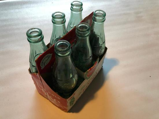 6-Pack Coca-Cola Bottles W/Cardboard Carrier