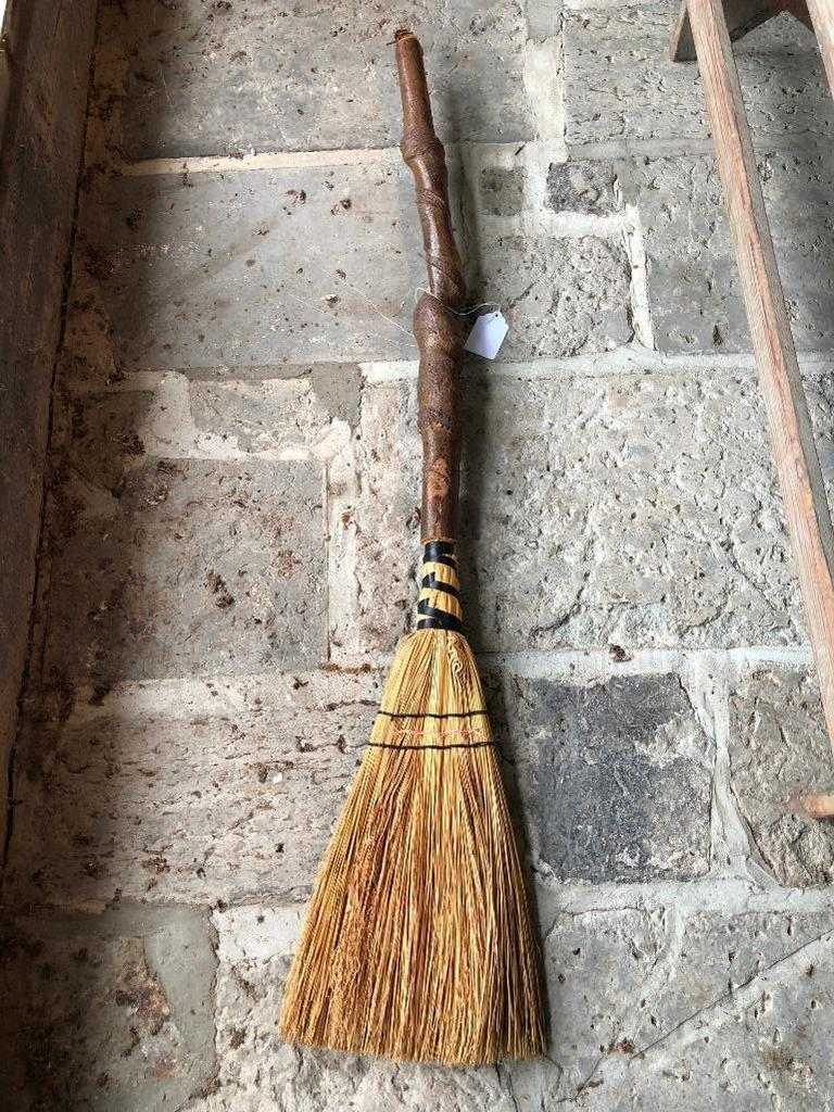 Primitive Looking Broom W/Twist Handle