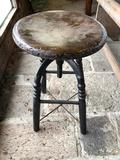 Antique Adjustable Kitchen Stool