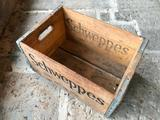 Vintage Wooden Schweppes, Dayton, Ohio Beverage Box