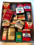 (19) Spice, Tea, & Seasonings Tins