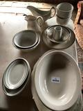 (15) Pcs. Ironstone & Restaurant Dinnerware