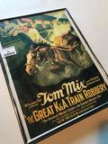 Frame, Reproduction Poster of Tom Mix Movie, Frame is 16 X 12 Inches