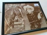 Reproduction Photo on Heavy Paper of Tom Mix, 14 X 11 Inches
