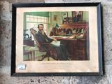 Vintage Framed Print, Father of Pharmacy, William Proctor Jr., Some Water and Age Condition Issues